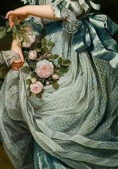"flowery-admirer: "" Daughter of Queen Marie Antoinette/// Detail. By—/Adolf Ulrik Wertmuller "" flowery-admirer: "" Daughter of Queen Marie Antoinette/// Detail. By—/Adolf Ulrik Wertmuller "" Classic Paintings, Old Paintings, Beautiful Paintings, Aesthetic Painting, Aesthetic Art, Angel Aesthetic, Renaissance Kunst, Renaissance Dresses, Victorian Art"