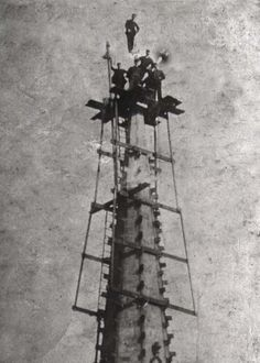 Repairs to the Spire in the 1960's
