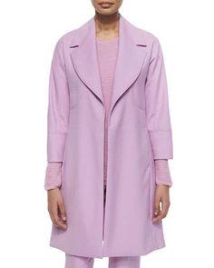 B2YRM Shamask Double-Face Wool Long Coat, Magenta
