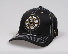 Z HAT Boston Bruins Adjustable Hat  Polyester High quality head gear Comfortable one size fits most - hook & loop adjustment Structured mid crown with curved bill 6 panel design Embroidered on front