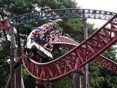 Rita at Alton Towers. This ride is great but you get such a shock when it starts!