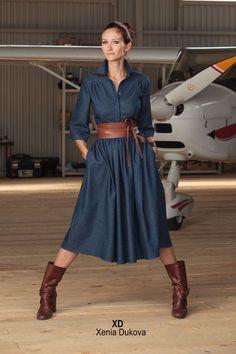 Джинсовое платье. - платье,джинсовое платье,джинсовый стиль,джинс,джинса