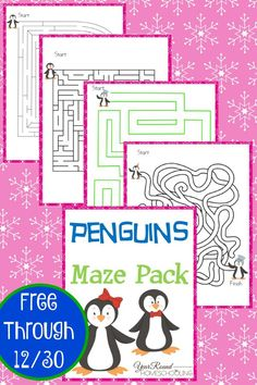 Penguins Maze Pack - Year Round Homeschooling