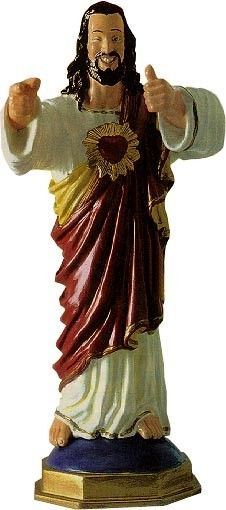 "Cover your ass this millenium with the new Buddy Christ Dashboard Statue. Inspired by the statue seen in Kevin Smith's Dogma, Buddy Christ stands over 5"" tall, comes fully-painted and is ready for action. Whether mounted on your dash or used at"
