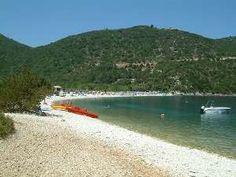Antisamos beach Kefalonia, just love the horse shoe of trees surrounding the beach