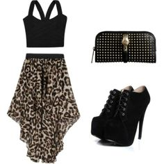 ustrendy, crop top, cheetah, high low skirt, skirt, party