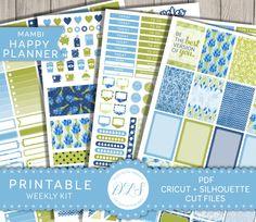 Happy Planner Kit, Mambi Printable, Happy Planner PDF, Weekly Planner Kit, Floral Planner Stickers, Spring Planner, Summer Planner, HP118