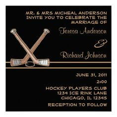 DealsHockey Wedding Invitationin each seller & make purchase online for cheap. Choose the best price and best promotion as you thing Secure Checkout you can trust Buy best Reception Only Invitations, Save The Date Invitations, Wedding Invitation Templates, Wedding Invitations, Hockey Wedding, Sports Wedding, Wedding Events, Our Wedding, Dream Wedding