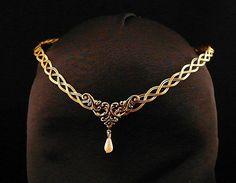 Medieval Renacimiento diadema tiara pagano fantasía elfos