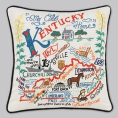 Kentucky pillow - I love this! I have this one and the uk wildcat one Mom has one from her travels! Love these