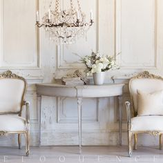 35 Pc Living Room Decor Set Eloquence Sophia Magdalena Demi Lune Console in Gustavian Grey Finish - Eloquence Shabby Chic Interiors, Shabby Chic Homes, Shabby Chic Furniture, Shabby Chic Decor, Parisian Chic Decor, Swedish Interiors, Vintage Furniture, Shabby Chic Entryway, Vintage Dressers