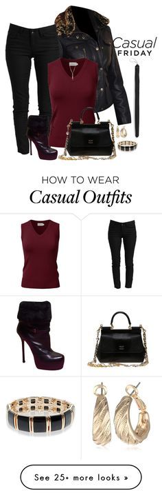 """CASUAL FRIDAY"" by arjanadesign on Polyvore featuring YMI, Yves Saint Laurent, Dolce&Gabbana, Accessorize, Napier, INC International Concepts, dolceandgabbana, saintlaurent, casualfriday and jjperfection"