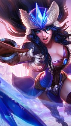 Sivir--Winter Storm This content is owned by League of Legends and Riot Games. League of Legends and Riot Games are trademarks or registered trademarks of Riot Games, Inc. League of Legends© Riot Games, Inc. Lol League Of Legends, Shyvana League Of Legends, League Of Legends Personajes, 3d Fantasy, Fantasy Images, Fantasy Girl, Fantasy Warrior, Fantasy Characters, Female Characters
