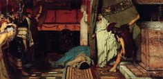 The Death of Hippolytus - Sir Lawrence Alma-Tadema - WikiArt.org