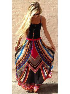 2d05ab9c76 Encontrar Más Faldas Información acerca de Nueva señora Summer Boho Beach  moda Chic dulce ocasional atractivo
