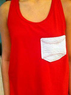Baseball pocket tshirt