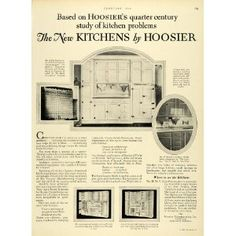1928 Ad Hoosier Mfg Co Newcastle Indiana Kitchens Equipment Cabinets Furniture - Original Print Ad
