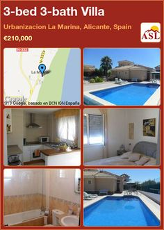 3-bed 3-bath Villa in Urbanizacion La Marina, Alicante, Spain ►€210,000 #PropertyForSaleInSpain