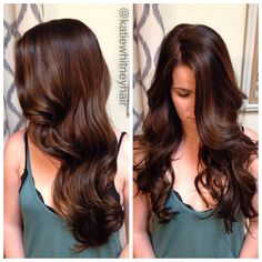 Black Coffee Hair With Ombre Highlights - 10 Cool Ideas of Coffee Brown Hair Color - The Trending Hairstyle Brown Hair Shades, Light Brown Hair, Brown Hair Colors, Chocolate Brown Hair With Highlights, Hair Highlights, Caramel Highlights, Caramel Balayage, Chocolate Hair, Chocolate Color