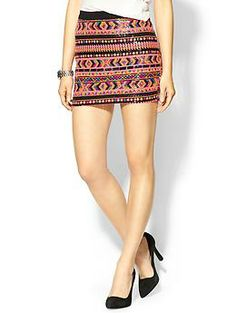 OMG, Sequined, Tribal mini skirt!!!!  I wish!   Potter's Pot Sequin Aztec Mini | Piperlime $59