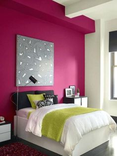 There are Perfect Bedroom Paint Color Ideas for Your Next Project. Wall Paint Colors, Bedroom Paint Colors, Bedroom Color Schemes, Awesome Bedrooms, Cool Rooms, Bedroom Wall Colour Combination, Colour Combinations Interior, Blue Green Bedrooms, Relaxing Master Bedroom