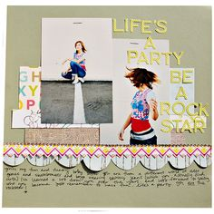 #papercraft #scrapbook #layout.