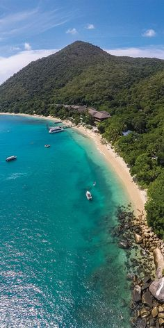 Aerial views of Fitzroy Island in Tropical North Queensland - by Phillip Thurston
