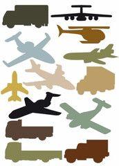 Bilar och Flyg  http://www.barndekor.se/products/wallstickers-flygplan-lastbil-ws0072