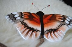 fused glass butterfly handmade handpainted by WorldinGlass on Etsy, €45.00