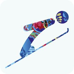 The collection of 22 pictograms created for the 2014 Sochi Winter Olympics. Each image depicts a minimalist representation an Olympic winter sport and will be seen throughout the events and on design pieces. Winter Olympics 2014, Winter Olympic Games, Winter Games, Olympic Icons, Olympic Sports, Theme Sport, Russia Winter, Ski Jumping, Winter Olympics