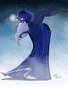 Grim Luna by Baron-Engel on DeviantArt Pony Creator, Celestia And Luna, Nightmare Moon, Luna Moon, My Little Pony Drawing, Mlp Pony, Twilight Sparkle, Cool Drawings, Fan Art
