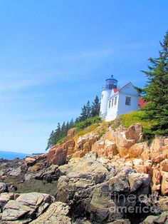 Bass Harbor Lighthouse by Elizabeth Dow - Bass Harbor Lighthouse Photograph - Bass Harbor Lighthouse Fine Art Prints and Posters for Sale
