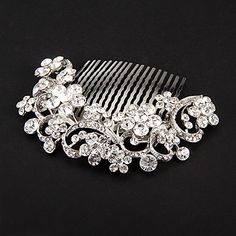 Women's Platinum Headpiece - Wedding/Special Occasion Hair Combs/Flowers – AUD $ 20.01