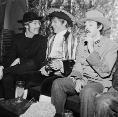 Fifty years on since the Fab Four's first single was released, treat your eyes to a half-century compilation of the band's oddest shots. Photo: Father John and Mountie Paul with Georgie Fame at the fancy dress 21st birthday party thrown for Fame's girlfriend Carmen Jiminez at The Cromwellian Club, London Jan 8th 1967.