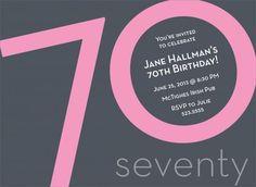 70th Birthday Pink Birthday Invitations by Invitation Duck