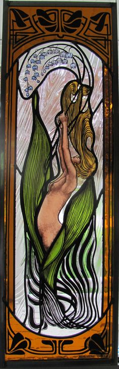 Art Nouveau Revival by Woodlandstainedglass on Etsy, $550.00