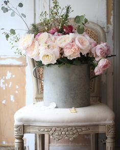 """3,136 Likes, 72 Comments - French Country Cottage (@frenchcountrycottage) on Instagram: """"The zinc bucket that started the obsession. I might be ordering a couple more zinc beauties (and…"""""""