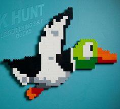 8-bit Dck Hunt duck mad from legos