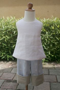 Super cute and simple white linen pinafore by finehandmadeclothing, $25.00