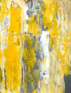 Acrylic Abstract Art Painting Grey Yellow and White    ----BTW, Please Visit:  http://artcaffeine.imobileappsys.com