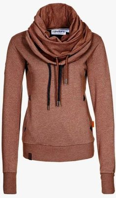 Fashionable Comfy and Cosy, Brown Hoodie for Ladies