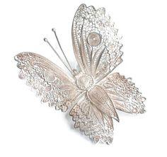 #filigree butterfly brooch #gotvintage #silver