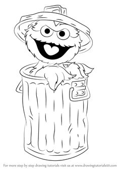 oscar the grouch coloring pages | Learn How to Draw Big Bird from Sesame Street (Sesame ...