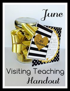 June Visiting Teaching Handout - VIRTUE. FREE PRINTABLE. From Marci Coombs Blog