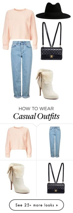 """Just a casual look today."" by angelikad on Polyvore featuring Miss Selfridge, Topshop, Yves Saint Laurent, Jennifer Lopez and Chanel"