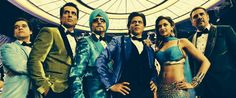 Shahrukh has a new game-plan to promote his Happy New Year Movie. He is scheduling global-wide reaching shows with the film's cast: Deepika Padukone, Abhishek Bachchan, Sonu Sood, Boman Irani and director Farah Khan. Happy New Year Trailer, Happy New Year Movie, Happy New Year 2014, Movies 2014, Hd Movies, Films, Happy New Year Bollywood, Sonu Sood, Chennai Express