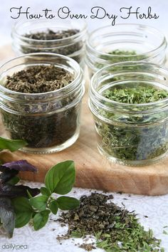 I was a little overwhelmed the other week when I noticed that my little herb bed was overflowing and in need of a major haircut. I'll show you how I oven-dried 3 types of herbs in one day's time!
