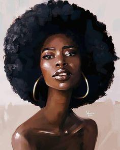 Art & beauty in 2019 black women art, art, black girl art. Black Love Art, Pretty Black Girls, Black Girl Art, Black Girl Magic, Art Girl, Sexy Black Art, Black Art Painting, Black Artwork, Afro Painting