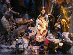 Nativity....Italy, Three Kings presenting gifts