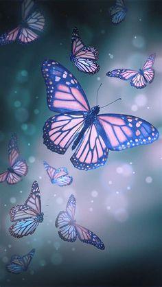 Android Wallpaper Butterfly, Purple Butterfly Wallpaper, Butterfly Live, Butterfly Background, Butterfly Drawing, Butterfly Pictures, Cute Butterfly, Butterfly Flowers, Cellphone Wallpaper